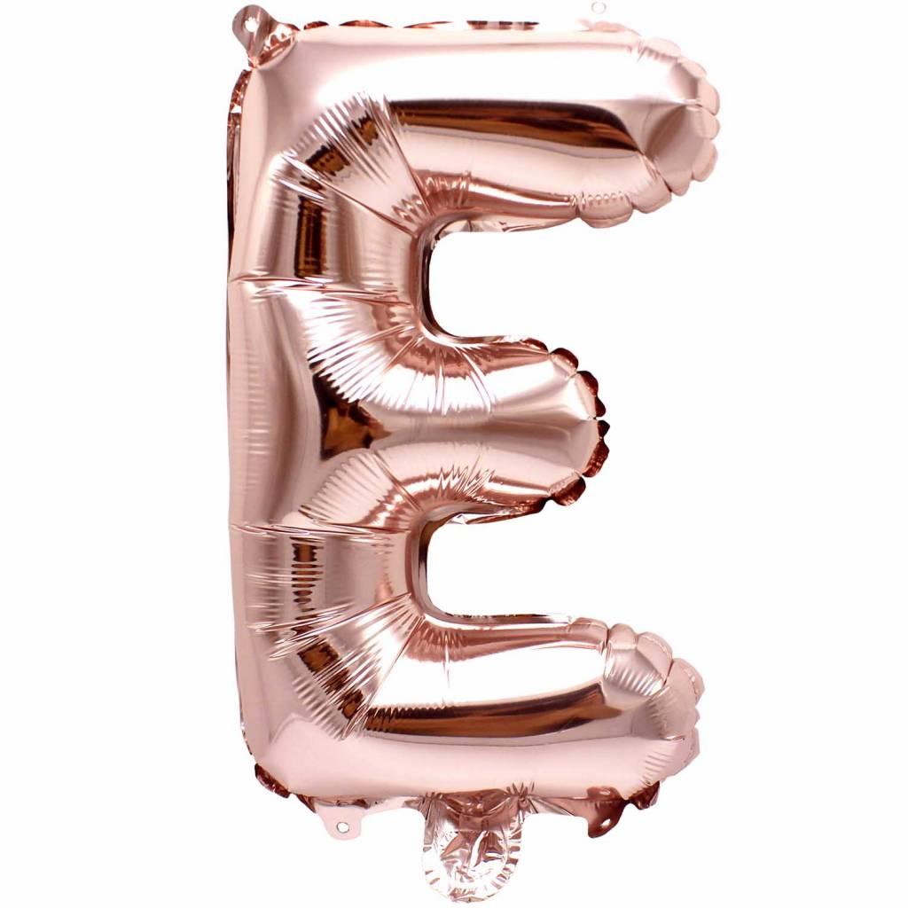 RICO Foil letterballoon small rose gold E