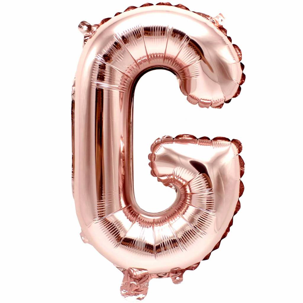 RICO Foil letterballoon small rose gold G