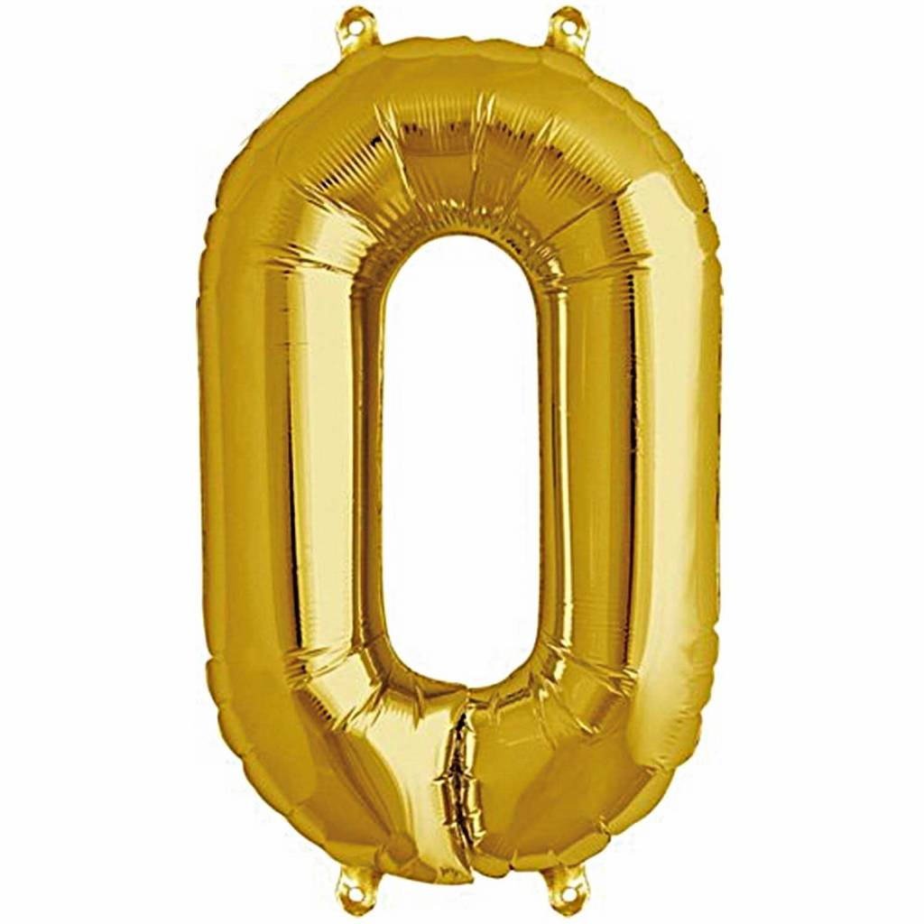 RICO Foil numberballoon small gold 0