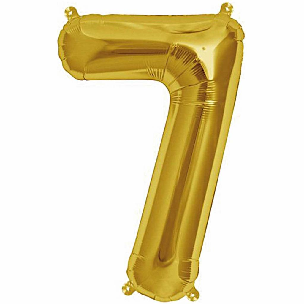 RICO Foil numberballoon small gold 7