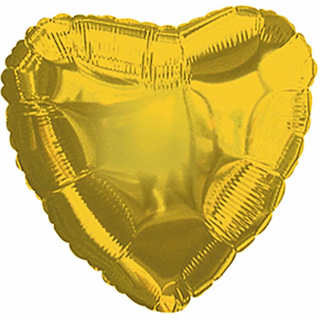 RICO Gold heart foil balloon small