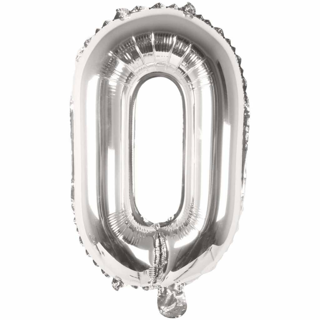 RICO Foil numberballoon small silver 0