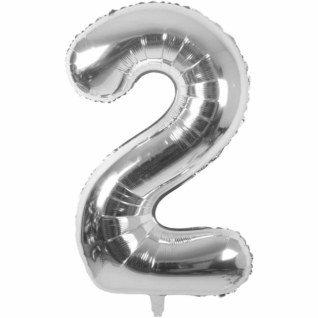 RICO Foil numberballoon small silver 2