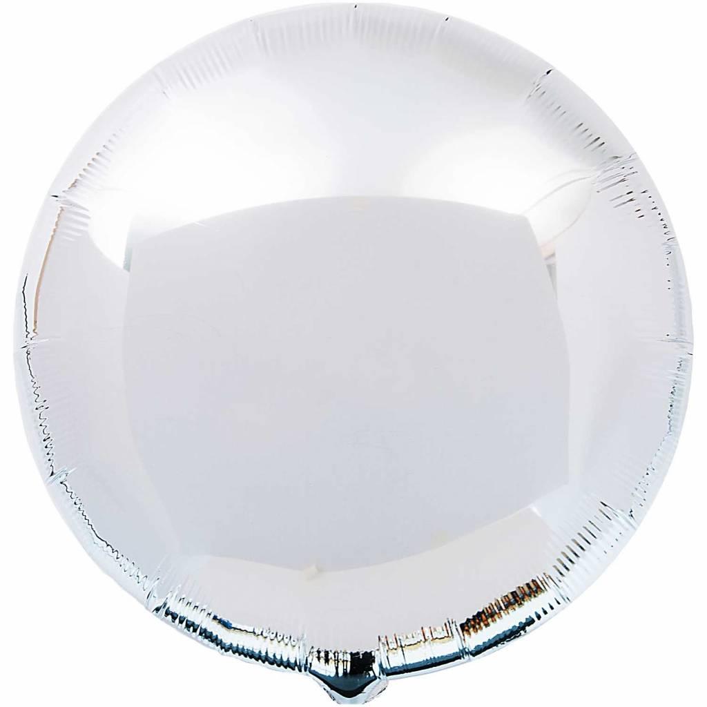RICO Silver circle foil balloon small