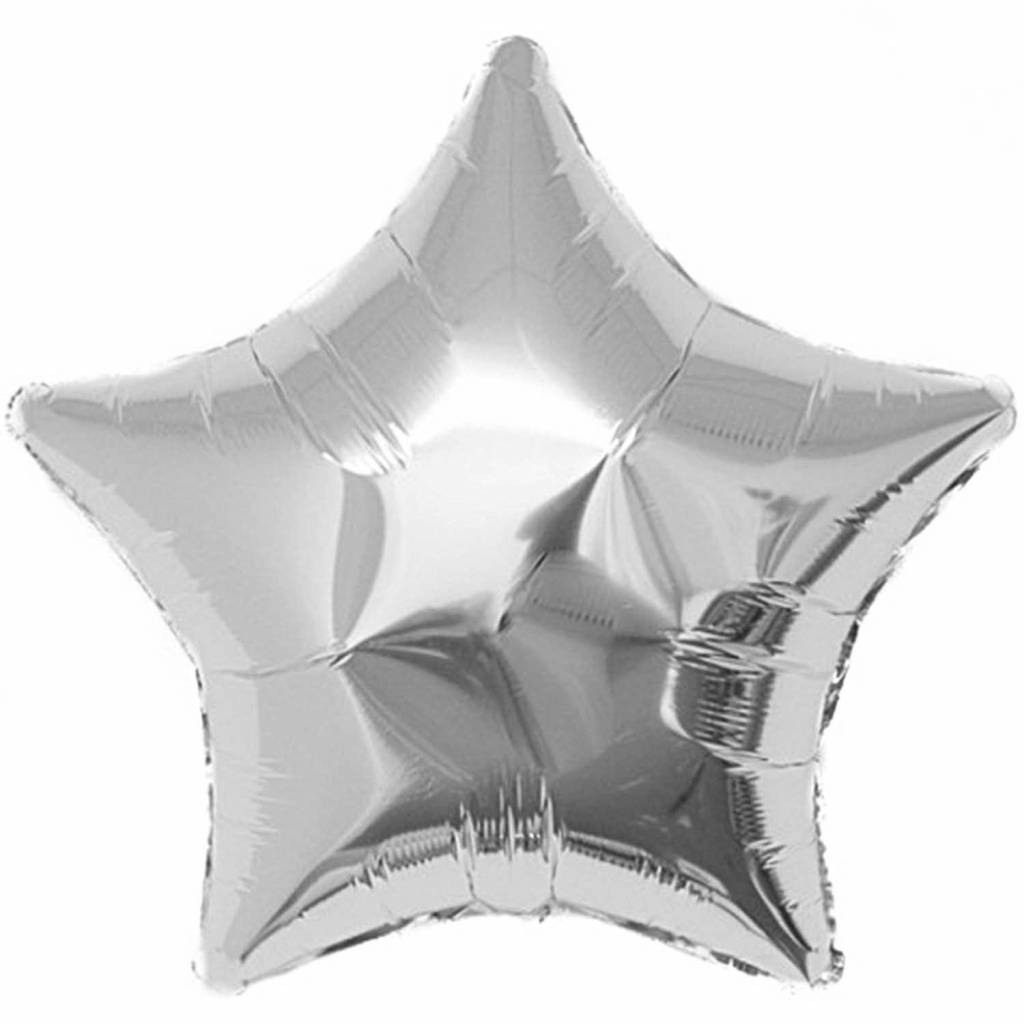 RICO Silver star foil balloon XL