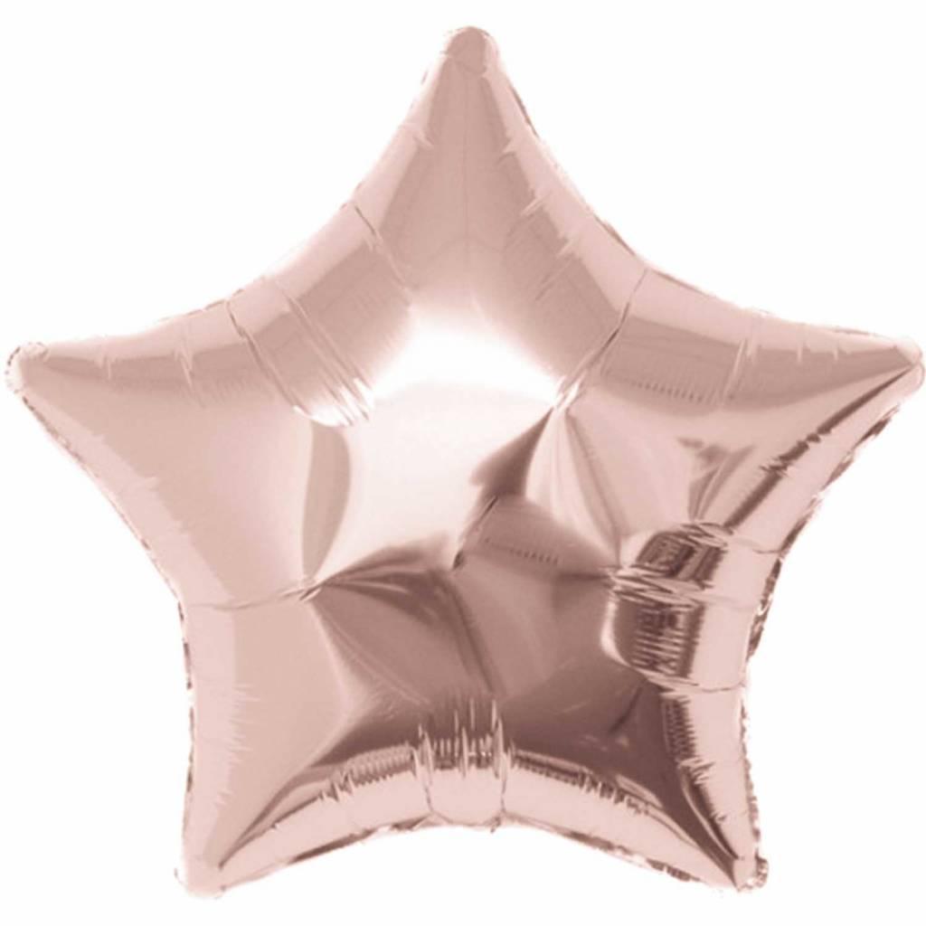 RICO Rose gold star foil balloon XL