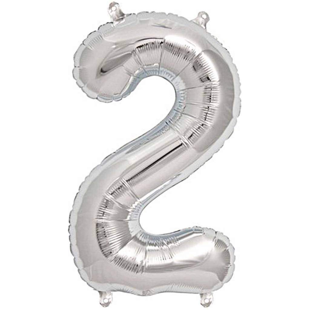 RICO Foil numberballoon large silver 2