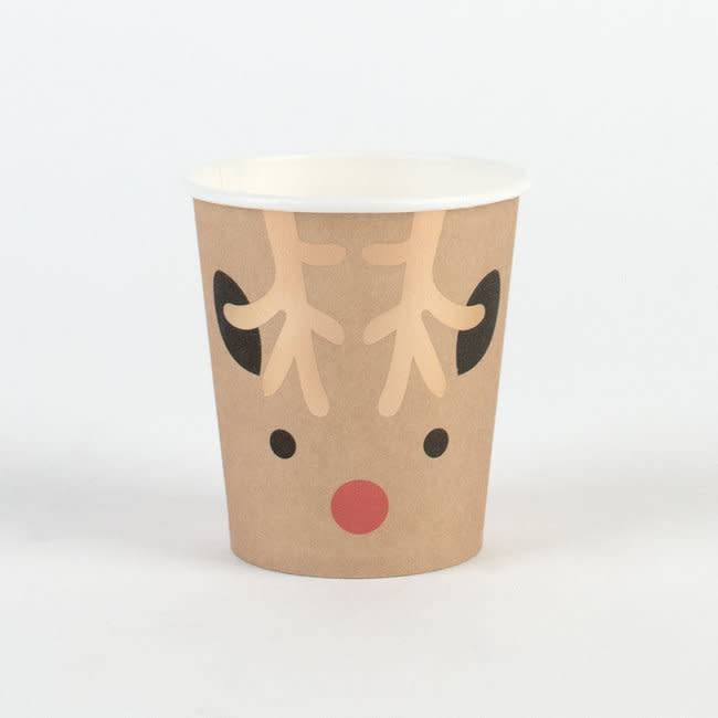 MY LITTLE DAY small paper cups - mini reindeers