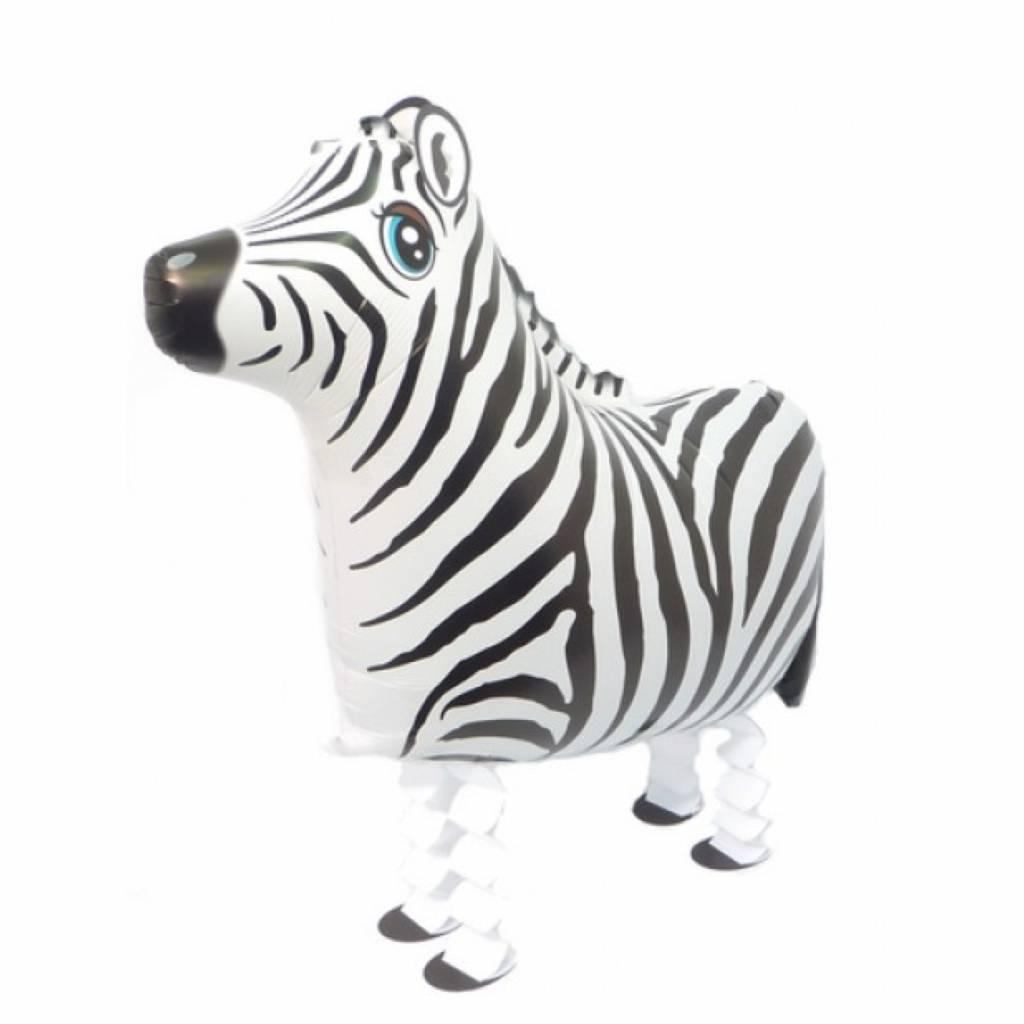 HH walking foil balloon zebra 63 cm