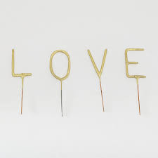 WC sparklers set mini love gold 4 x