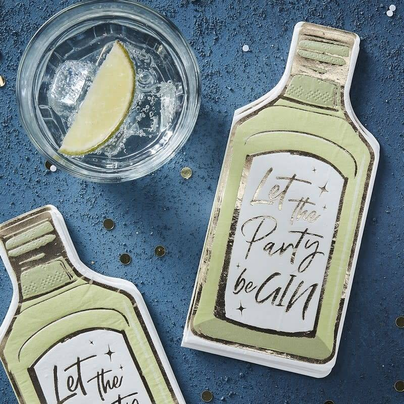 GINGERRAY LET THE PARTY BE GIN PAPER NAPKINS