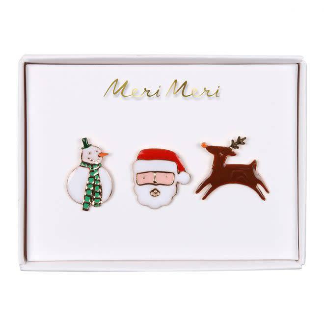 MERIMERI Christmas character enamel pins