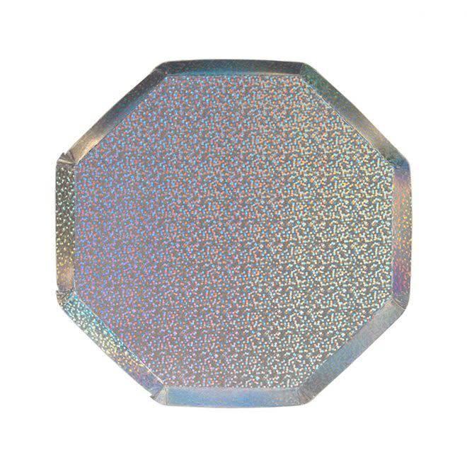 MERIMERI Silver sparkle side plates