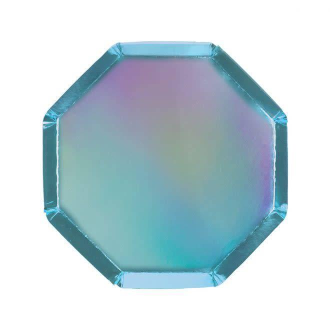 MERIMERI Holographic blue side plates