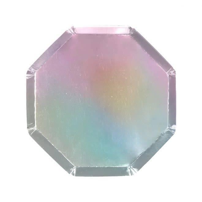 MERIMERI Holographic silver side plates