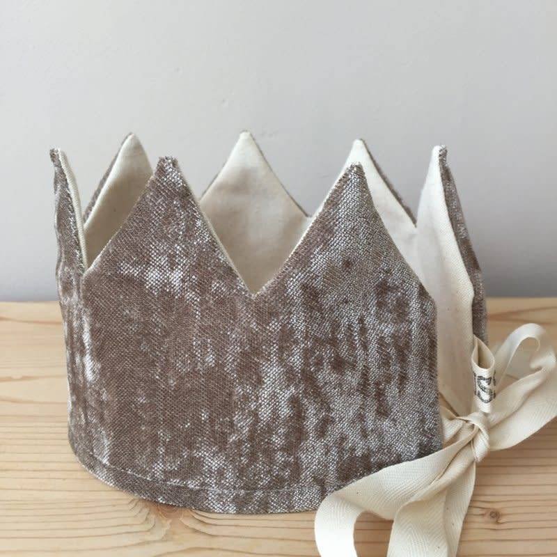 SUUSSIES Crown fabric velvet grey