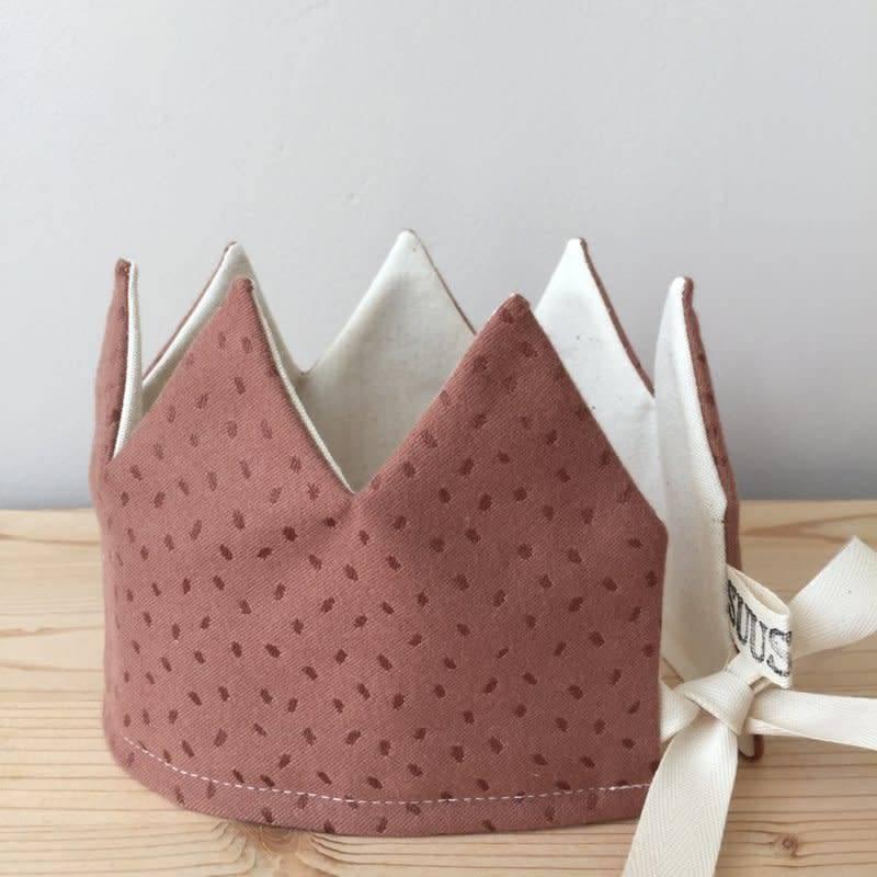 SUUSSIES Crown fabric dots mauve