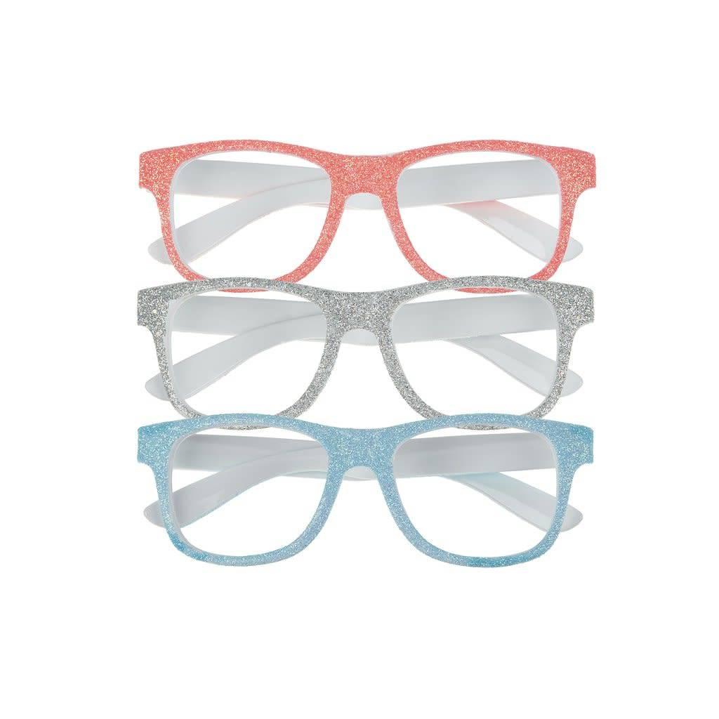 Mimi & Lula glittery glasses neon coral