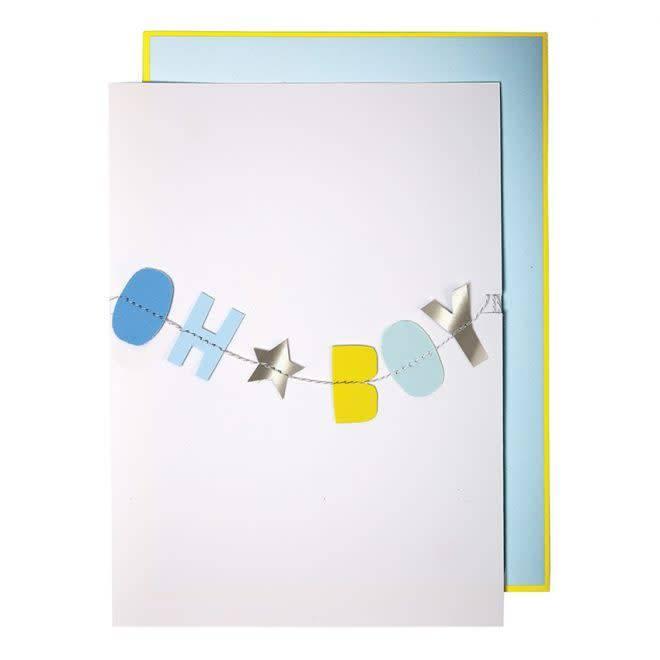 MERIMERI Baby boy garland card