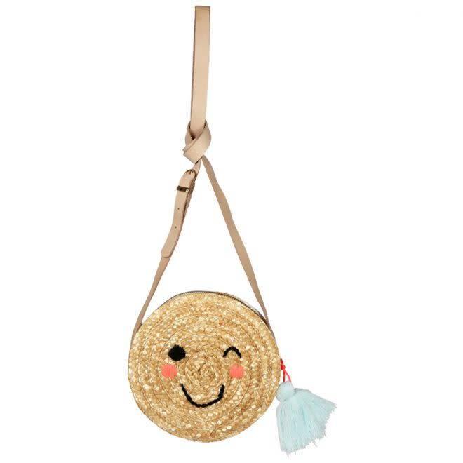MERIMERI Emoji straw bag