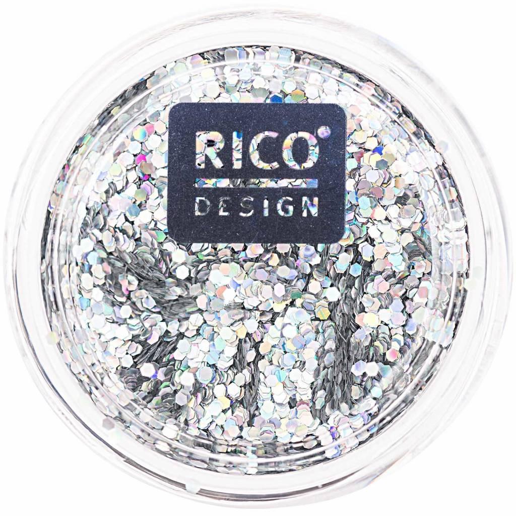 RICO HOLOGRAPHIC GLITTER SILVER
