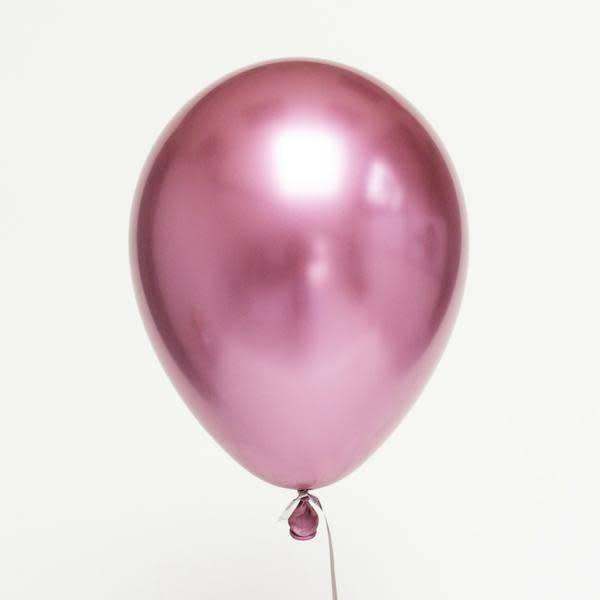 ABC Chrome shiny mauve balloons 28cm 5x