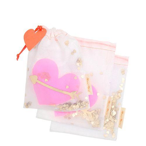 MERIMERI Heart shaker gift bags