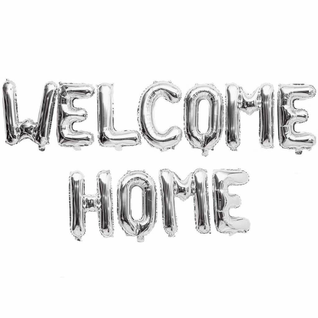 RICO FOIL BALLOONS, WELCOME HOME,SILVER