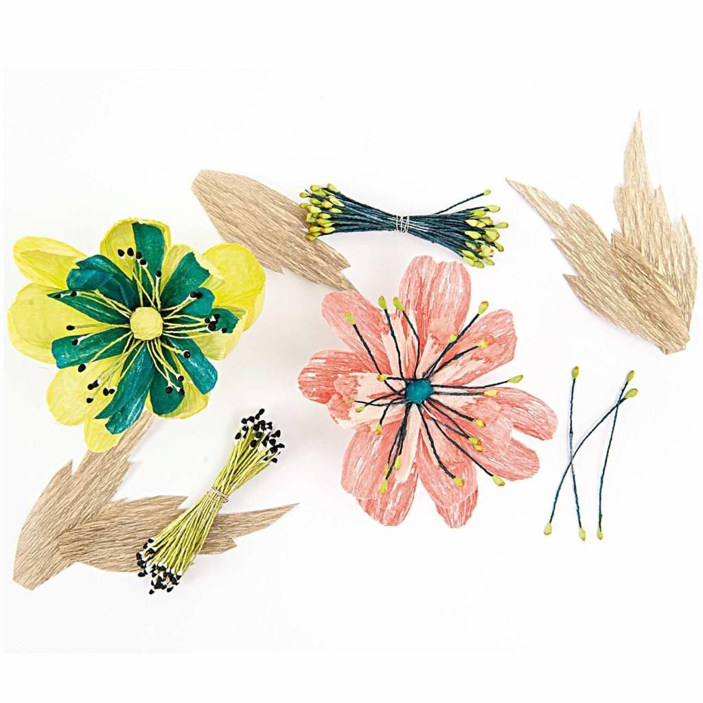 RICO FLOWER PIPS, GREEN/BLACK