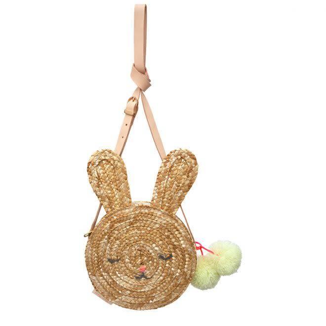 MERIMERI Bunny straw bag