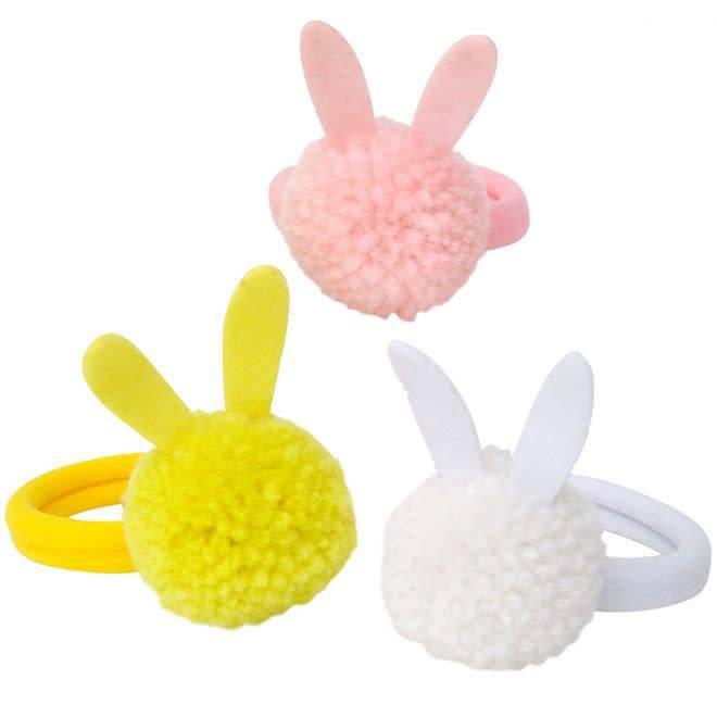 MERIMERI Bunny pompom hair ties