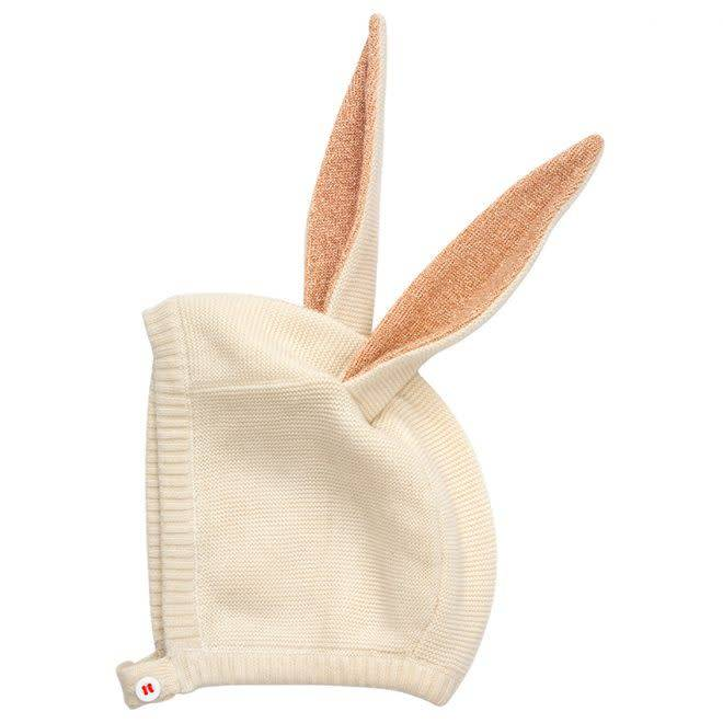 MERIMERI Bunny baby bonnet pink