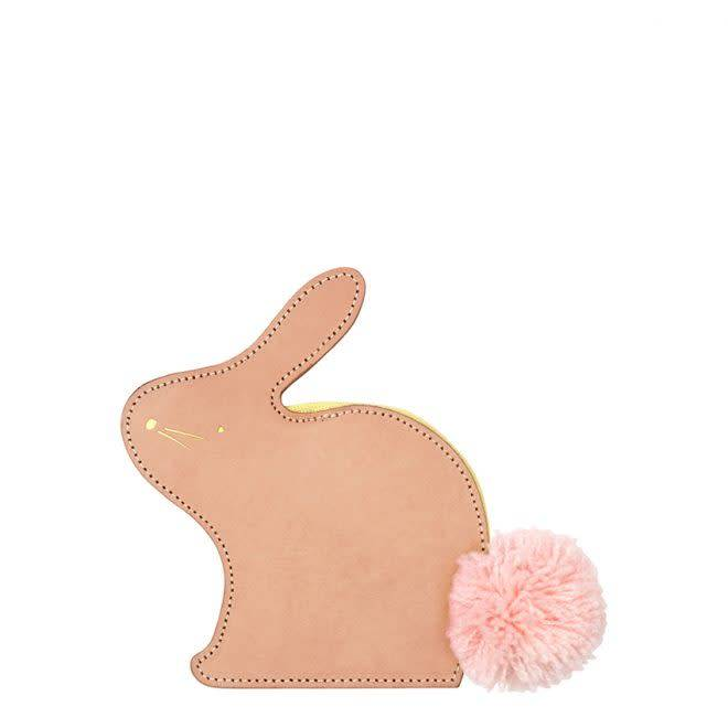 MERIMERI Leather bunny coin purse