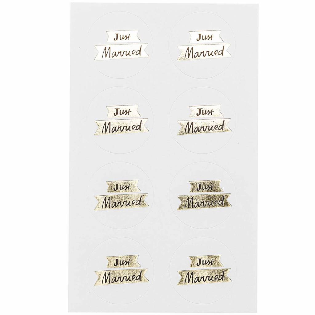 Rico stickers just married gold fsc mix