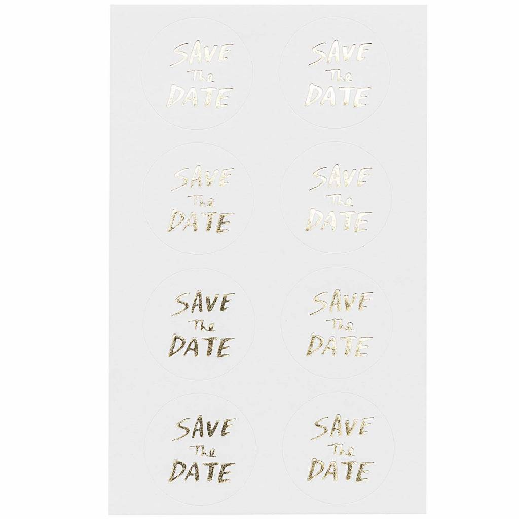 RICO STICKERS SAVE THE DATE GOLD FSC MIX