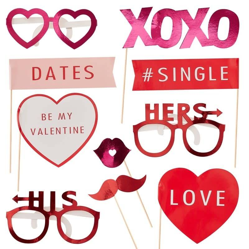GINGERRAY VALENTINES PHOTO BOOTH PROPS - BE MY VALENTINE