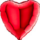 SMP heart foil balloon red 90 cm
