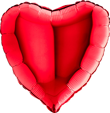SMP Red heart foil balloon 90 cm