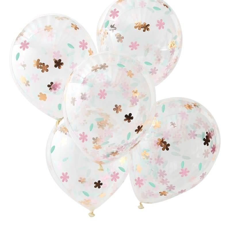 GINGERRAY Floral Confetti Balloons - Ditsy Floral