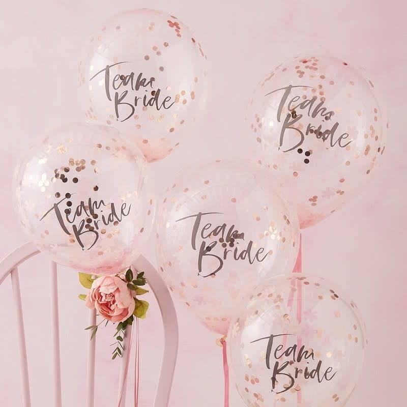 GINGERRAY Confetti Balloons Team Bride - Floral Hen Party