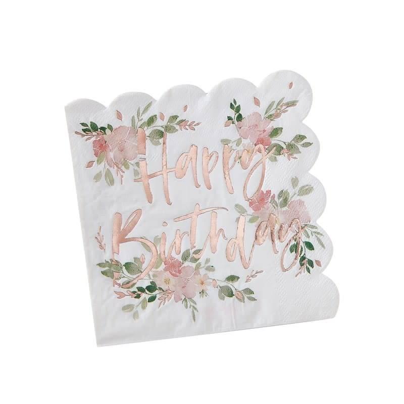 GINGERRAY Happy birthday Napkins - Ditsy Floral