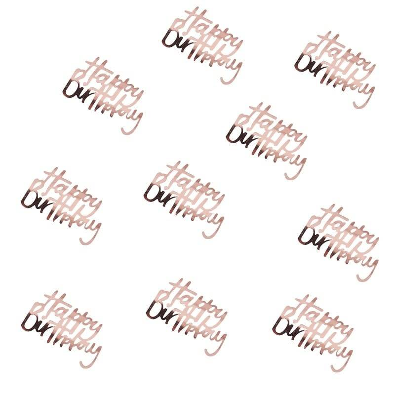 GINGERRAY Happy Birthday Confetti rose gold - Ditsy Floral