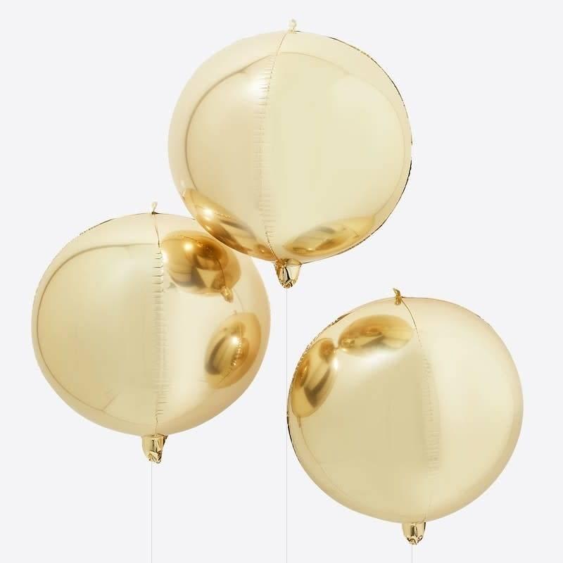 GINGERRAY Gold Orb Balloon - Balloon Arches