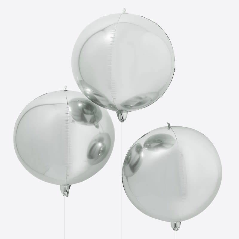 GINGERRAY Silver Orb Balloon - Balloon Arches