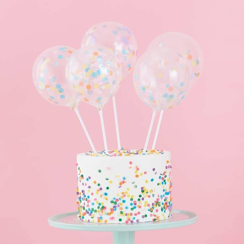 GINGERRAY Cake Toppers Mini Balloons- Pastel Party