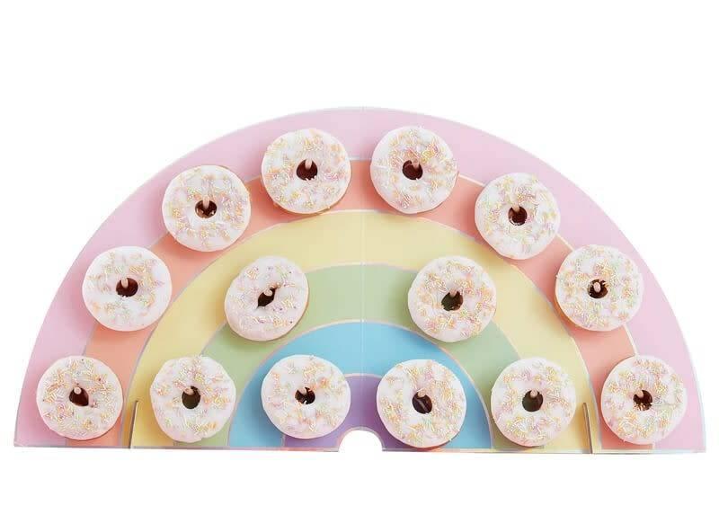 GINGERRAY Rainbow Donut Wall Holder- Pastel Party