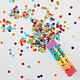 GINGERRAY Rainbow Biodegradable Confetti Cannon Shooter- Over The Rainbow