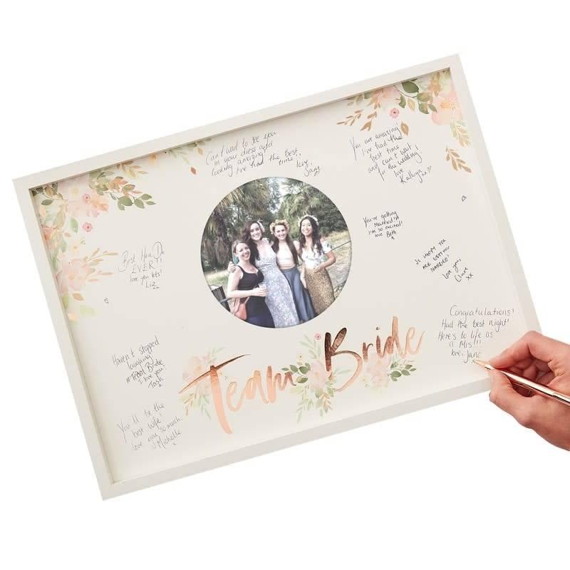GINGERRAY Team Bride Frame Guest Book- Floral Hen Party
