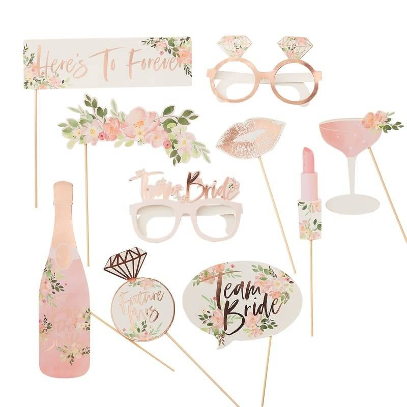 GINGERRAY Photoboot Props Floral- Floral Hen Party