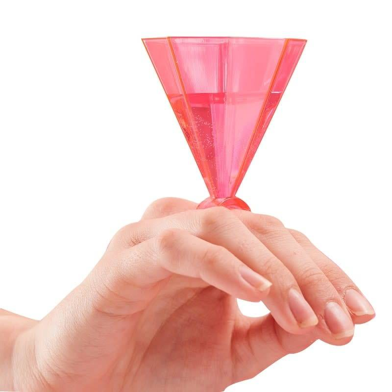 GINGERRAY Pink Ring Party Shot Glasses- Bride Tribe